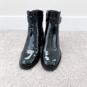 Forever 21 faux patent leather boots
